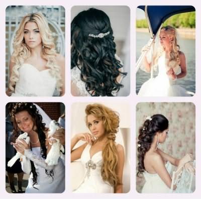 Волосы на заколках прочно вошли в свадебную моду