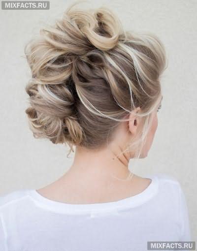 Укладка на длинные волосы с челкой