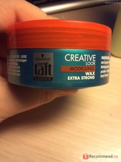 Воск для укладки Taft Creative look, сверхсильная фиксация. фото