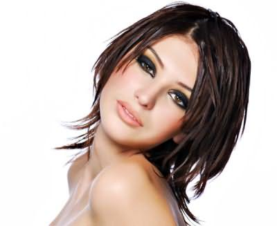 Фото потрясающей укладки с эффектом мокрых волос