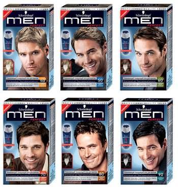 Фото специальной краски для мужчин, закрашивающей седину