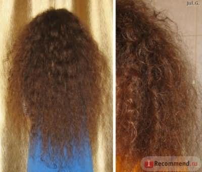 волосы, высушенные естественным путем в распущенном виде