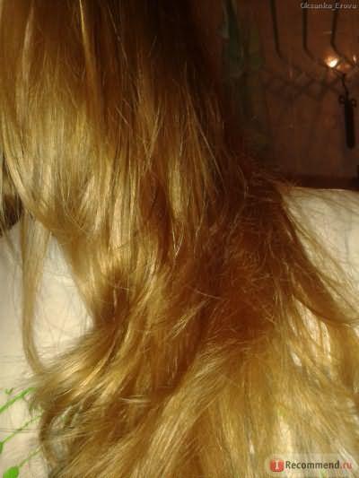 Волосы со вспышкой (влажные, после масок с маслами)