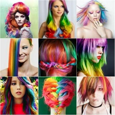 Окраска волос спреем