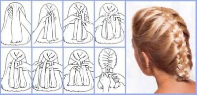 Техника плетения колоска