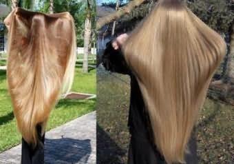 На фото: длинные волосы