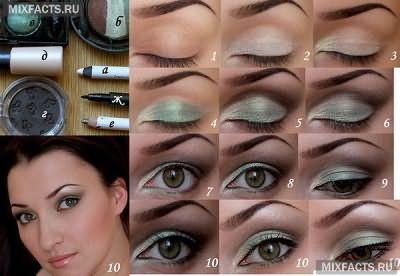 зеленые тени на зеленых глазах