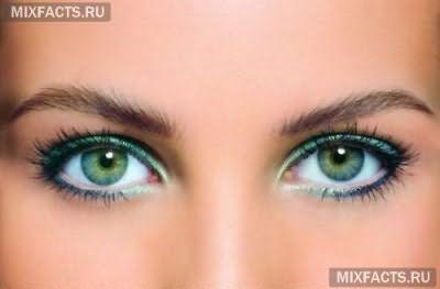 идеи макияжа для зеленых глаз
