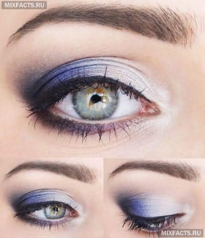 идеи пошагового макияжа для зеленых глаз