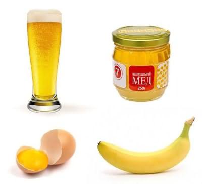 maska s pivom i bananom