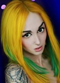 желтые волосы 4