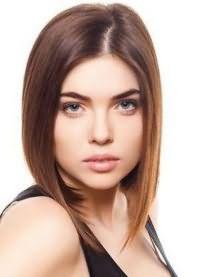 красивые стрижки на средние волосы без челки 4