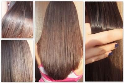 Состояние волос после использования спрея